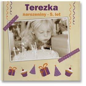 plochá fotokniha - narozeniny