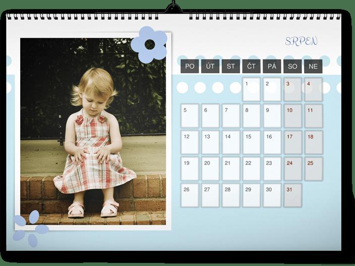 fotokalendář A3 na šířku - holčička